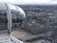 Skypod with Parliament in background,  London, UK