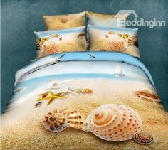 Lt Queen King Size Cotton Fitted Sheet Set with Rubber Around Beach Starfish Shell Blue Ocean Sea Prints Duvet Cover Set/bed Linens/bed Sheet Sets/bedclothes/bedding Sets/bed Sets/bed Comforter Sets/bed in a Bag (Queen, without comforter) Queen Size Duvet Covers, Comforter Cover, Bed Duvet Covers, Duvet Cover Sets, Cover Pillow, Pillow Shams, Beach Theme Bedding, Ocean Bedding, Duvet Bedding