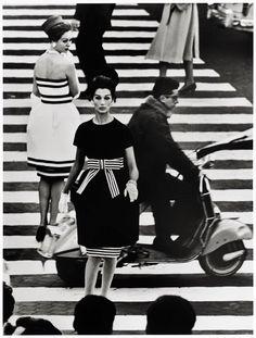 William Klein, Simone + Nina, Piazza di Spagna, Rome (Vogue), 1960, printed later.