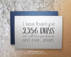 A beautiful and unique way to show your significant other just how much you love them. Show them that you have counted the days :)  #weddings #weddingcards #weddingdaycards #anniversarycards #frombridetogroom #fromgroomtobride #ihavelovedyoufor #personalizedcards #greetingcards #weddinganniversary