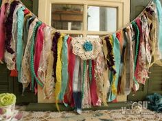 Boho-Gypsy-Valance-Colorful-Garland-Ribbon-Curtain-Backdrop-Crib-Chair-Glamping