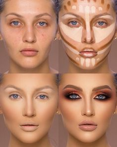 37 Tutorial for pretty makeup for beginners and students 2019 - Beauty Make-Up Contouring For Beginners, Makeup Tutorial For Beginners, Make Tutorial, Easy Makeup Tutorial, How To Contour For Beginners, Makeup Hacks For Beginners, Simple Eyeliner Tutorial, Eye Shadow Tutorial, Red Lipstick Tutorial
