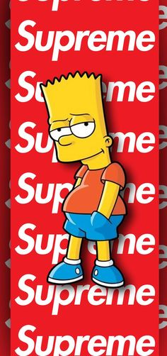 Supreme Wallpaper, Bart Simpson, Tv, Fictional Characters, Best Walpaper, Television Set
