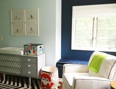 2014 Nursery Trend: Fox Accents - love the fox storage bin in this sweet nursery! #nursery #fox #nurserydecor