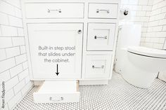 great idea for kids - no annoying step stools to trip over in the bathroom