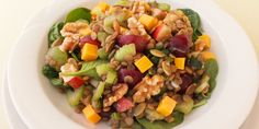 Lentil Salad with Fruits, Nuts and Cheese