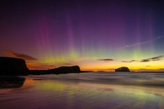 The Aurora Borealis over North Berwick. | 28 Haunting Photos That Prove Scotland Is Even More Beautiful At Night