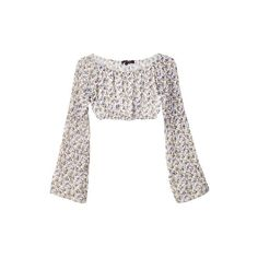 For Love & Lemons La Flor Crop Top ($83) ❤ liked on Polyvore featuring tops, shirts, crop tops, sheer top, round top, off shoulder crop top, floral shirt and see through tops