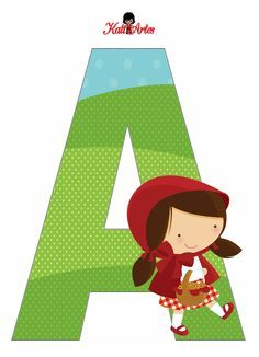 Little Red Riding Hood Alphabet. Apple Classroom, Le Gui, Red Riding Hood Party, Little Red Ridding Hood, Kids Party Themes, Party Ideas, Red Party, Baby First Birthday, Alphabet And Numbers