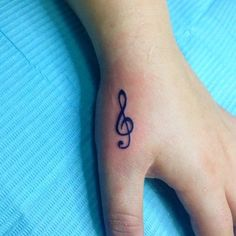 Pin for Later: 100 Real-Girl Tiny Tattoo Ideas For Your First Ink The Right Note