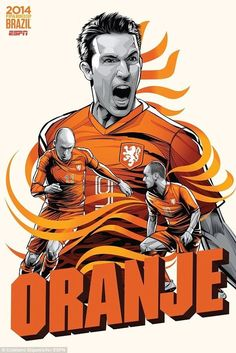 1. Holland | Community Post: An Artist Created 32 Incredible Posters For Each Team In The FIFA World Cup