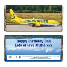 Airliner Yellow Chocolate Bar | Chocolate | Exclusively Personal