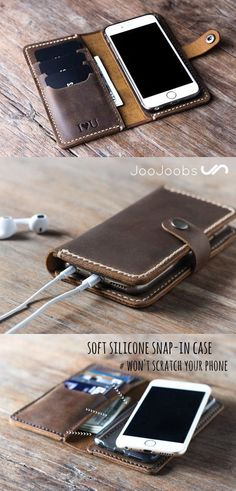 Buy Your iPhone Wallet Case Online Only at JooJoobs. Leather Wallet Pattern, Handmade Leather Wallet, Leather Gifts, Leather Keychain, Leather Craft, Iphone Wallet Case, Leather Projects, Leather Accessories, In Kindergarten