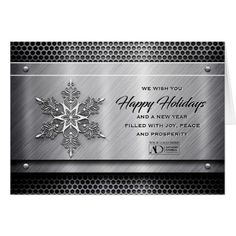 These personalized corporate holiday thank you cards business steel metal business holiday cards with logo cheaphphosting Choice Image