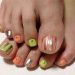 elegant nail art designs for toe