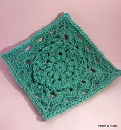 Pukado By Patricia Stuart: Crochet Your Mood Blanket 2014 - March Square - Free pattern
