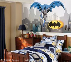 I Am Momma - Hear Me Roar: The Superhero Bedroom - Part 2 inspiration for cityscape