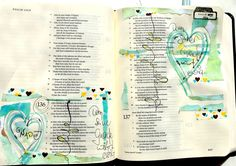 Created by; Tabea Becker-Trippel - bible journaling, Journaling Bible, Art Bible, Margin bible journaling.