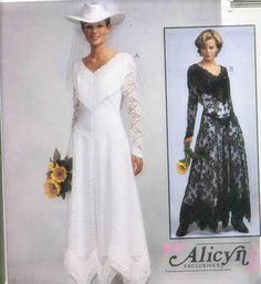 McCalls 8057 Misses Western Wedding Dress Sewing by RomasMaison, $15.00