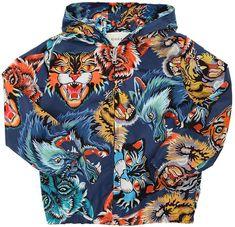 79ccad81b805 Gucci Animals Printed Nylon Windbreaker Jacket Gucci Kids