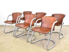 Set of 6 dinner chairs by Willy Rizzo for Cidue, 1970s