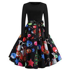 Elegant Christmas Party Dress Women 2018 Winter Vintage Dresses Robe femme  Casual Long Sleeve Swing Pinup Midi Dress Plus Size b94f59d18
