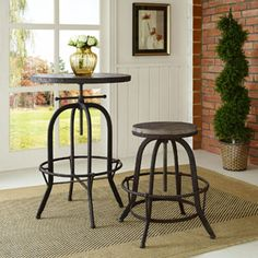 Collect Wood Top Bar Stool 1208-BRN by LexMod