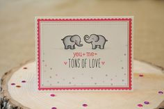 How sweet is this card by Nicole from - Unify Handmade - using Lawn Fawn stamps and dies from Mama Elephant Love Valentines, Valentine Day Cards, Paper Craft Making, Lawn Fawn Stamps, Card Tags, Greeting Card, Cool Cards, Making Ideas, Cardmaking