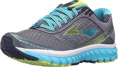 Brooks Womens Ghost 9 SilverBlue AtollLime Punch Running shoes  9 BM US -- Read more  at the image link. Note: It's an affiliate link to Amazon