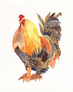 Chicken With Feathered Feet Print by unitedthread for @audriejane