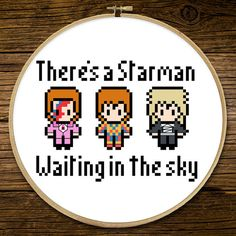 David Bowie - There's a Starman waiting in the sky - Cross Stitch (PATTERN ONLY)