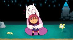 Toriel and Frisk. I half feel that this is kind of cruel to Flowey, but still. Undertale Comic, Undertale Fanart, Toby Fox, Underswap, Frisk, Bad Timing, Fun Games, Just In Case, Nerdy