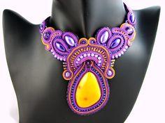montownia monity hand embroidered jewelry sutasz soutache: NASZYJNIKI
