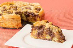 Torta preguiçosa de banana com chocolate | Sal de Flor