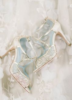 This Bella Belle bridal shoes with gold embroidered lace is officially on our…