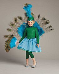 pretty peacock girls costume