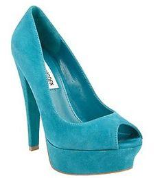 Splurge & Steal on twin teal pumps @ www.fashionfeen.com