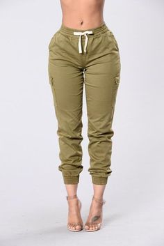 Gotta Keep Going Joggers - Olive