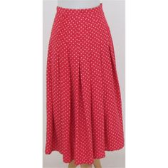 Vintage Liberty of London - Size: M -Vintage strawberry red patterned silk skirt | Oxfam GB | Oxfam's Online Shop