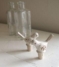 Ceramic Bird Bottle Stopper
