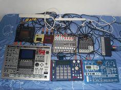 Korg Kaoss Pad 3, Roland MC-909, Korg Kaossilator, Korg miniKP, Tapco Mix120, AKAI MPC1000, Behringer Xenyx 802, Korg EMX and Behringer MINIFEX FX800.