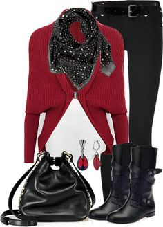 """Sweater, boots and jeans contest."" by lisamichele-cdxci on Polyvore"