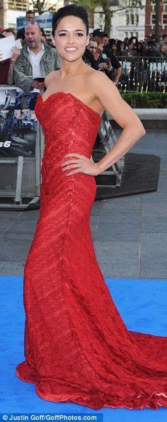 Michelle Rodriguez  + gown
