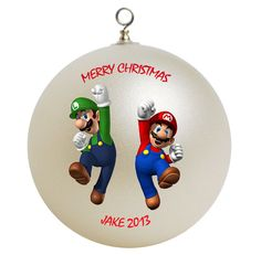 Super Mario Brothers Personalized Custom by photocustomgifts, $15.95