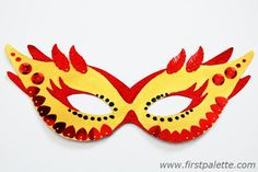 Create your own masquerade mask for Halloween, Mardi Gras or any costume party. This craft includes printable mask templates plus lots of creative mask decorating ideas. Foam Crafts, Fun Crafts For Kids, Cute Crafts, Craft Stick Crafts, Diy For Kids, Arts And Crafts, Craft Ideas, Mardi Gras Mask Template, Masquerade Mask Template