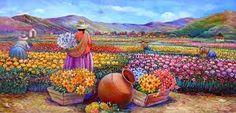 Znalezione obrazy dla zapytania pinturas peruanas al oleo