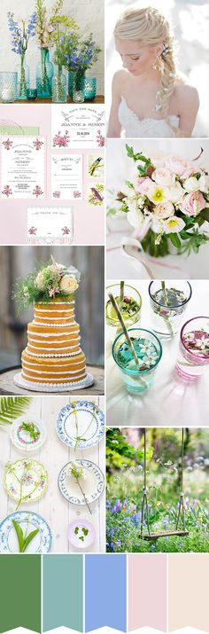 A Spring-Inspired Wedding Color Palette | www.onefabday.com