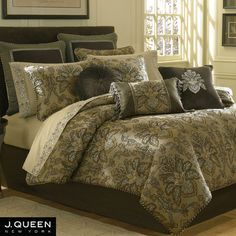 Tosca Damask Comforter Bedding by J Queen New York