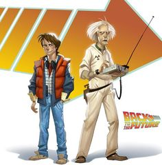 Marty McFly and Doc Emmet Brown