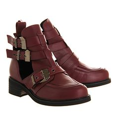 Office Ultimate 2 Burgundy Leather - Ankle Boots